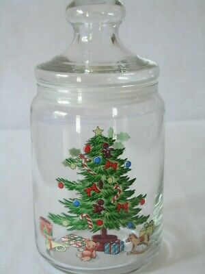 $9.95 • Buy Tienshan Holiday Hostess Christmas Glass Canister Storage Jar 1qt. With Box