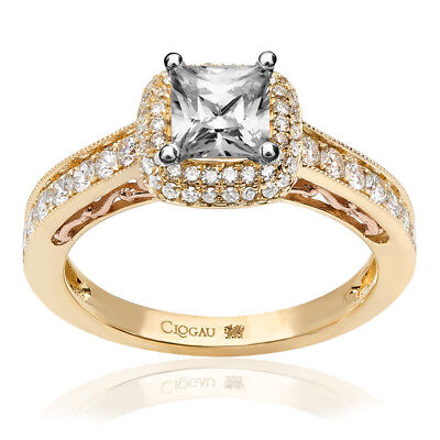 Clogau Compose 18ct Yellow Rose Gold Cecilia Engagement Ring £6115 Off 1ct • 6,115£