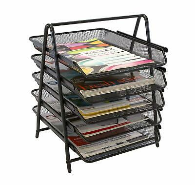 £23.20 • Buy 5 Tier Mesh In Tray Office Document Paper Letter Desk Filing Foolscap A4 Black