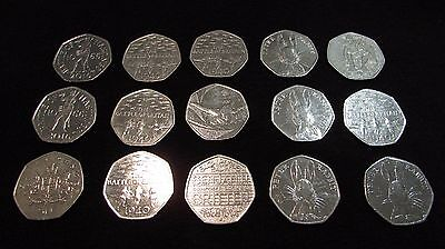 50p - Fifty Pence Pieces - GB Coin Hunt - Various - Free P&P  • 1.55£