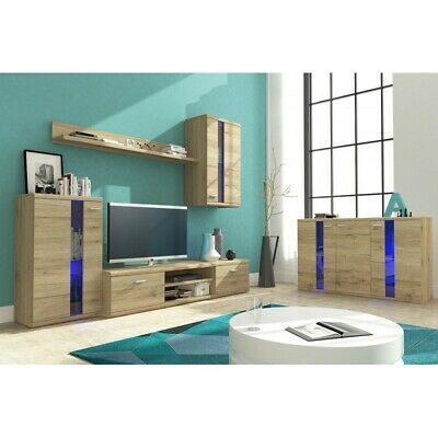 Living Room Furniture Set Tv Unit Display Stand Wall Mounted Cupboard Cabinet • 255£