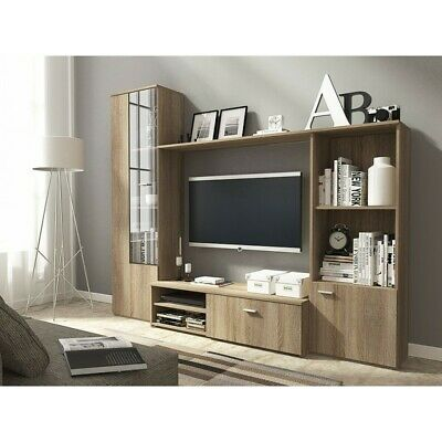 Living Room Furniture Set Tv Unit Display Stand Wall Mounted Cupboard Cabinet • 239£
