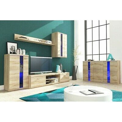 Living Room Furniture Set Tv Unit Display Stand Wall Mounted Cupboard Cabinet • 259£
