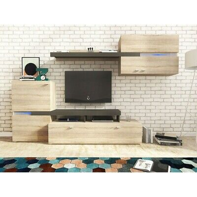 Living Room Furniture Set Tv Unit Display Stand Wall Mounted Cupboard Cabinet • 245£