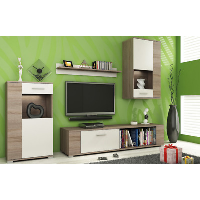 Living Room Furniture Set Tv Unit Display Stand Wall Mounted Cupboard Cabinet • 235£