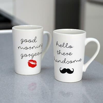 £10 • Buy 2 Pack Of Mr & Mrs Coffee Mugs Tea Cups His & Her Novelty Gift Set Porcelain