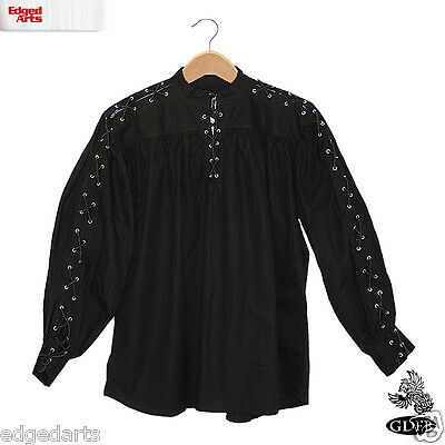 £27 • Buy Cotton Shirt For Reenactment Larp, Cosplay Fancy Dress - Laced Sleeves & Neck