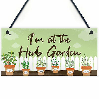 £3.99 • Buy Novelty Garden Signs And Plaques Herb Garden Sign Shed Sign Home Decor Gifts