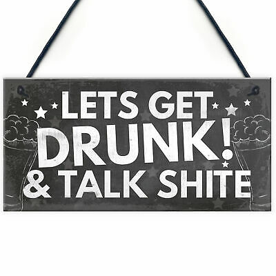 £3.99 • Buy FUNNY Bar Sign Garden Signs Home Bar Sign Alcohol Gift Man Cave Shed Sign Gifts