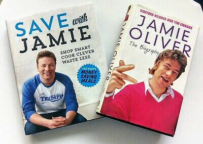 AU29.99 • Buy JAMIE OLIVER The Biography 2001 1st Ed.Book + SAVE WITH JAMIE - Cook Book