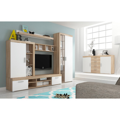 Living Room Furniture Set Tv Unit Display Stand Wall Mounted Cupboard Cabinet • 390£