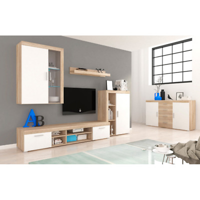 Living Room Furniture Set Tv Unit Display Stand Wall Mounted Cupboard Cabinet • 295£