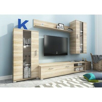 Living Room Furniture Set Tv Unit Display Stand Wall Mounted Cupboard Cabinet • 269£
