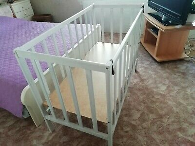 Wooden Baby Drop-side Cot Bed Crib 120x60 Cm Beech Wood  Mio Bambino  Brand • 75£