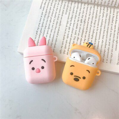 AU13.99 • Buy For Apple AirPods Case Cute Bear Piggy Silicone Cover Skin Earphone Charger Case