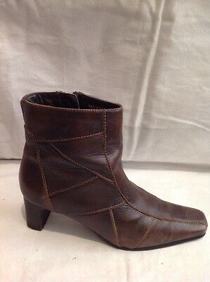 £24 • Buy Rohde Brown Ankle Leather Boots Size 37