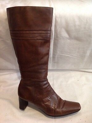 £30 • Buy Rohde Brown Knee High Leather Boots Size 7