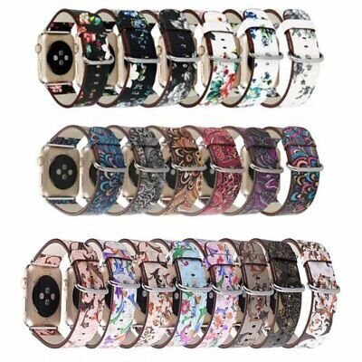 AU14.59 • Buy Colorful Leather Apple Watch Strap Band Series4 3 2 1 IWatch Strap 38 42 40 44mm