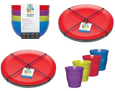 £14.95 • Buy KitchenCraft 4Pk Colourworks Melamine Tableware -Picnic, Camping, Party, Boating