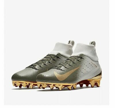 ca99d92a0 NEW Nike Vapor Untouchable Pro 3 Football Cleats Size 9 White Gold  833385-090 •