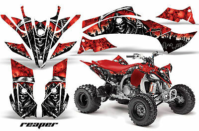 AU234.84 • Buy ATV Graphics Kit Decal Sticker Wrap For Yamaha YFZ450R/SE 2009-2013 REAPER RED