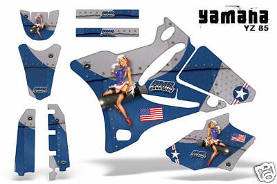 AU222.95 • Buy Dirt Bike Decal Graphics Kit MX Sticker Wrap For Yamaha YZ85 2002-2014 TBOMBER U