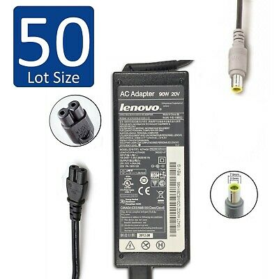 $ CDN445.07 • Buy Lot Of 50 Lenovo ThinkPad Laptop AC Charger Power Adapter 90W 20V 4.5A ROUND TIP
