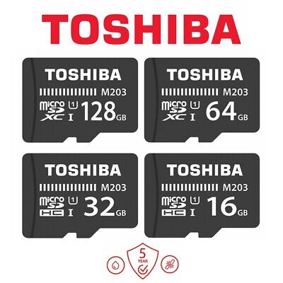 AU10.95 • Buy Micro SD Card 32G 16G 128G Toshiba M203 UHS-I Class10 Mobile Tablet Memory 100Mb