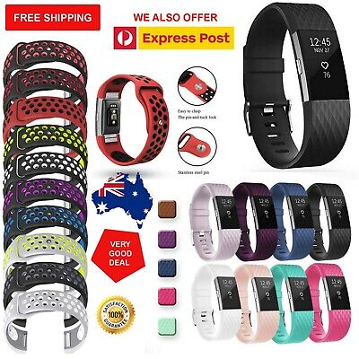 AU8.19 • Buy Very Good Diamond Silicone Watch Wrist Sports Band Strap For Fitbit Charge 2 AU