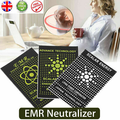 EMF Protection Quantum Scalar Anti Radiation Tablet Laptop Phone Mobile Sticker  • 1.79£