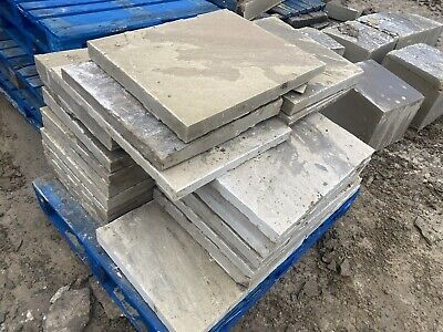 Quality New Riven Yorkstone Paving £62.50 Sq Yard/£75 Mtr (Reclaimed Cathedral) • 75£