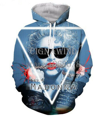 $ CDN33.88 • Buy Fashion Women/Men's Popular Singer Madonna 3D Print Hoodies Sweatshirt Pullover