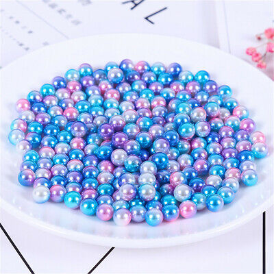 $ CDN6.06 • Buy 6mm 8mm Gradient Faux Pearls Many Colors Plastic Round Beads Craft Decorations