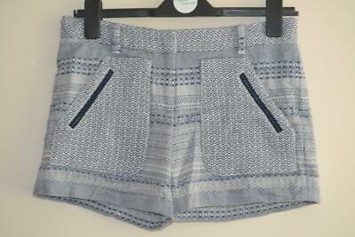 £8.50 • Buy Womens Blue & White Tommy Hilfiger Aztec Pattern Casual Shorts Uk 4