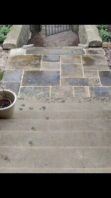 Reclaimed Aged Yorkstone Paving Cathedral Quality £75m +Vat Dark Or Sandblasted • 62.50£