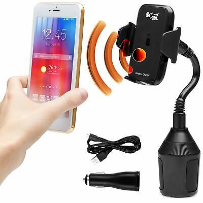 $29.98 • Buy Wireless Phone Car Cup Holder Charger Mount | 360 Degree Swivel. Universal Fit