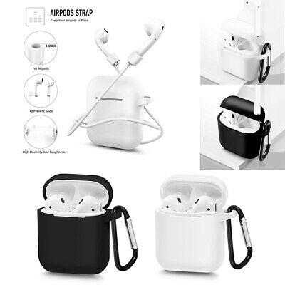 $ CDN12.41 • Buy For Apple AirPods Strap Drop Protection Silicone Case Cover Skin Accessory