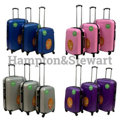 Hard Shell Trolley Suitcase 4 Wheel Spinner Lightweight Luggage Travel Case • 29.99£