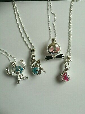 Disney Necklace Silver Pearl Necklace Locket Christmas FREE GIFT BOX  650 • 8.50£