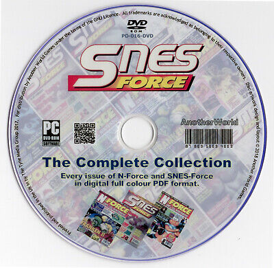 N-FORCE/SNES FORCE Magazine Collection On Disk (Nintendo NES/SNES/Gameboy Games) • 3.59£