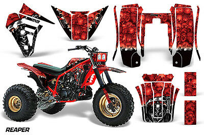 AU249.52 • Buy 3 Wheeler Graphics Kit Decal Sticker Wrap For Yamaha Tri Z 250 85-86 REAPER RED