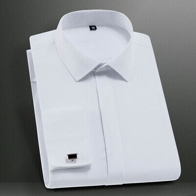 New Fashion Mens Button Down Slim Long Sleeves French Cuff Dress Shirts OK6517 • 13.78£