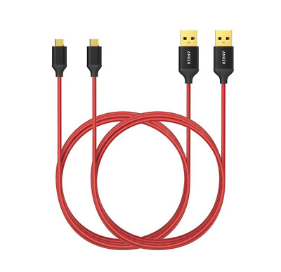 AU24.15 • Buy 2x Anker Micro USB Charging Cable, 1.8M, Black, Nylon, Samsung, Sony, LG, Phones