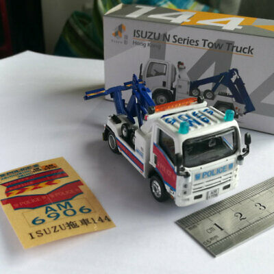 Die-cast Model ISUZU Police Road Recovery Tow Truck Tuning Skin Car 1:76 Scale • 19.99£
