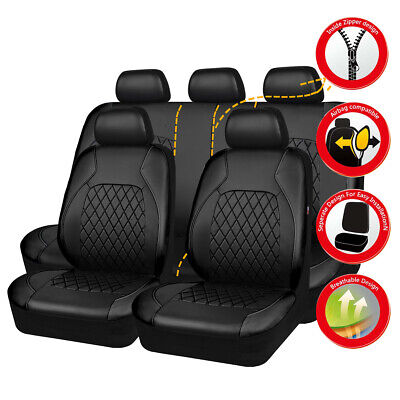 AU94.99 • Buy Universal Car Seat Covers PU Leather Black Waterproof Fit For SUV VAN Holden