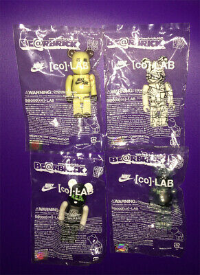 $399.99 • Buy BE@RBRICK 100% NIKE Co+ LAB Set Lot Of 4 Novelty Rare Medicom Bearbrick Japan