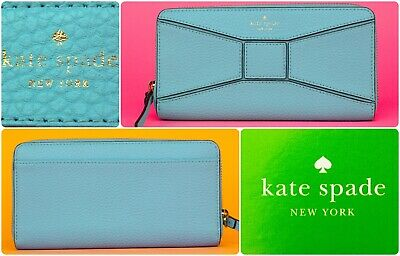 $ CDN39.61 • Buy Kate Spade NY Bridge Place Neda Pebble Leather Zip Around Wallet - Fast Ship!