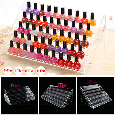 3~6 Tier Nail Polish Varnish Bottles Acrylic Retail Makeup Display Stand Storage • 13.99£
