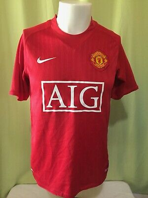 2f1e8b00392 Ronaldo  7 Manchester United Nike Fit Dry Men s Red Jersey Size Small The  Red •