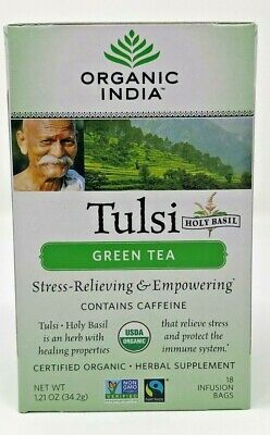 $29.99 • Buy Organic India Tulsi Green Tea, 18-Count Teabags (Pack Of 6)